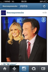 upfronts cbs,crazy ones,robin williams,sarah foto,foto